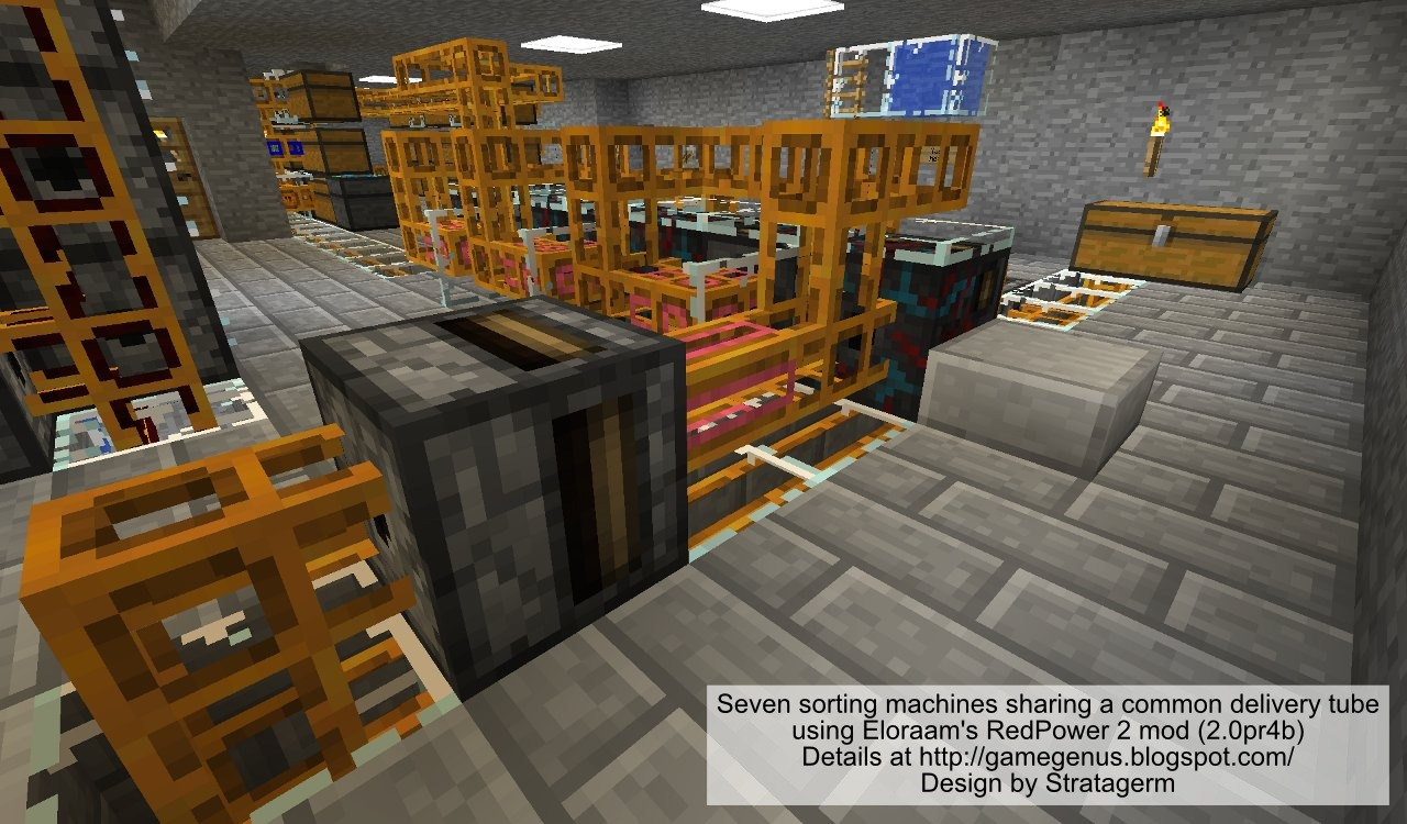 Game Genus Minecraft Sorting And Smelting System Using