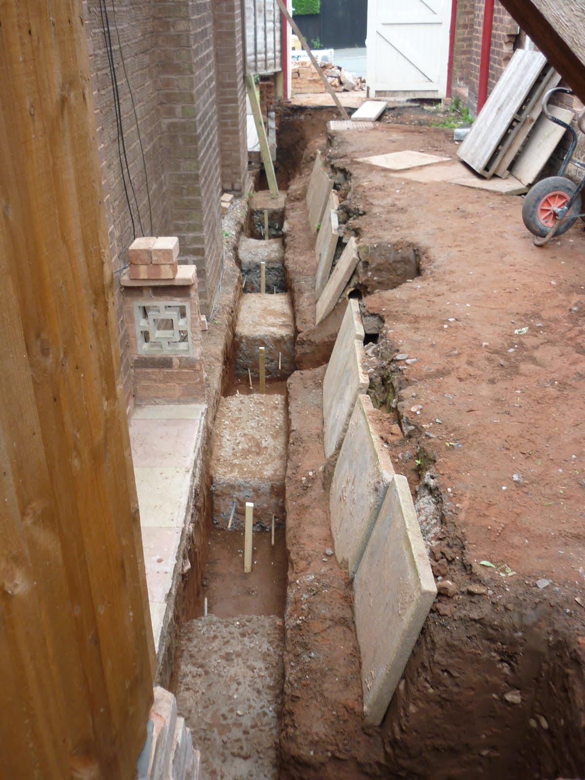 hillside renovation 19 i 39 m back On neighbours foundations on my land