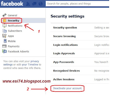 how to delete one of my facebook accounts