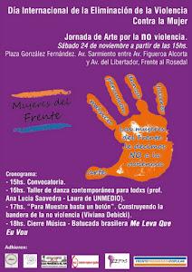 24 de noviembre Palermo de 15 a 18 hs. No a la violencia contra la mujer