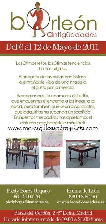 Mercadillos and markets mercadillo antig edades borle n - Mercadillo antiguedades madrid ...