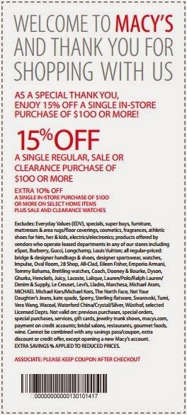 Macys coupon code online