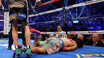 Manny Pacquiao knocked out by Marquez face down, in a legendary win