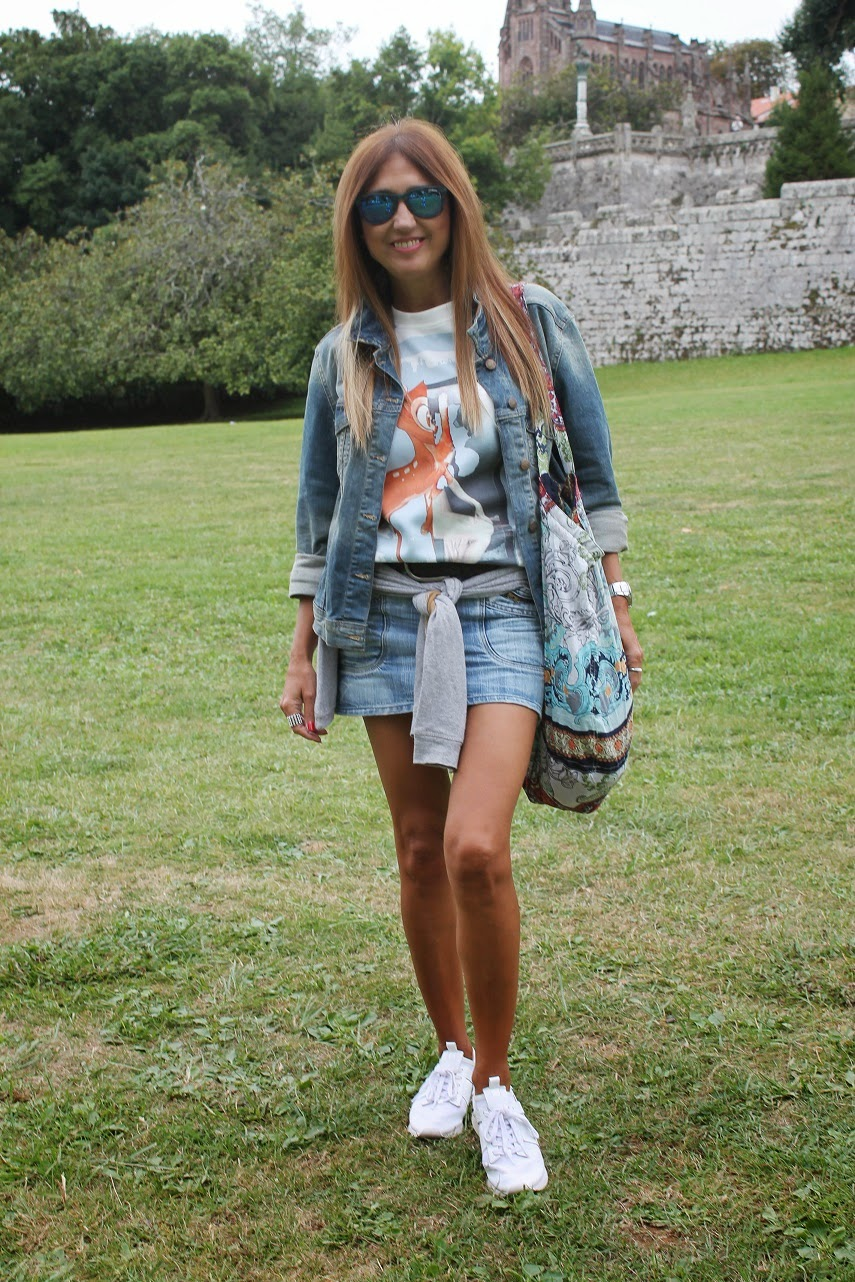 T-shirt, Bambi, Isadora, Denim, Regalos, Street Style, Fashion Blogger, Look, Cool, Life Style, Comillas, Palacio de Sobrellano, Summer, Travel, Holidays, Beach,