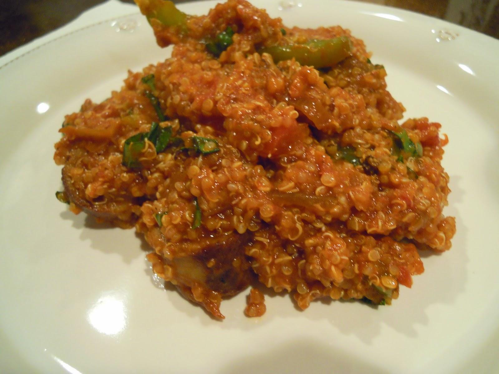 quinoa-sausage-peppers