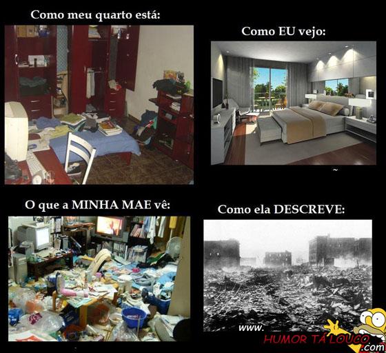 A realidade sobre os quartos bagunçados...