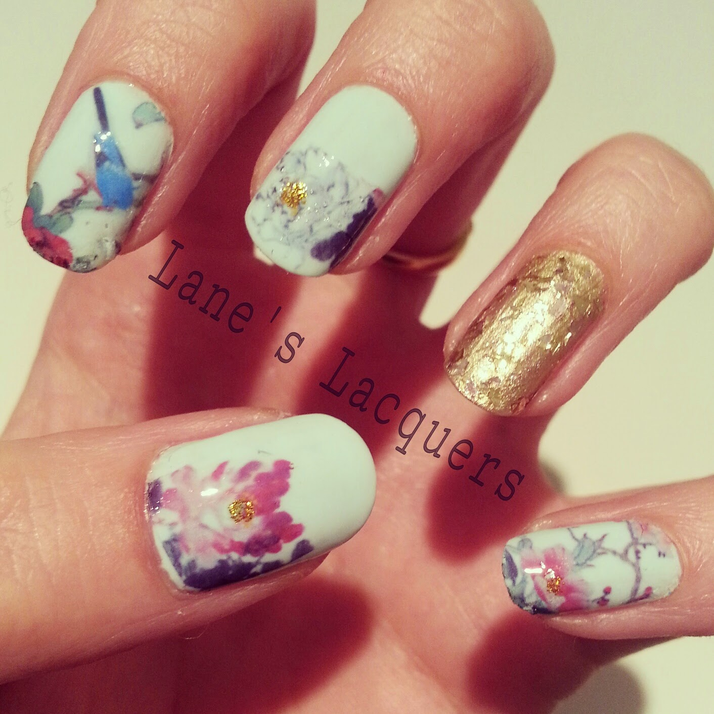 she-sells-sea-shells-floral-water-transfer-nail-art