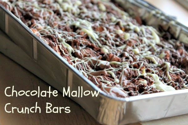 Chocolate Mallow Crunch Bars