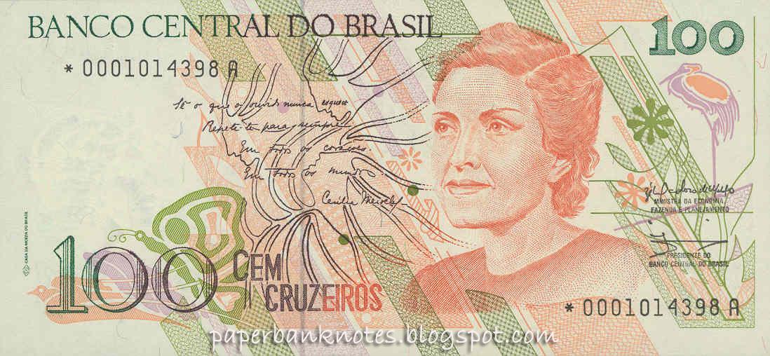 P-235 ND 1993 UNC C-229 BRAZIL  CRUZEIROS 100000.