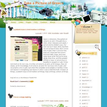 Take a Picture of Greece Blogger Template. free download template blogspot
