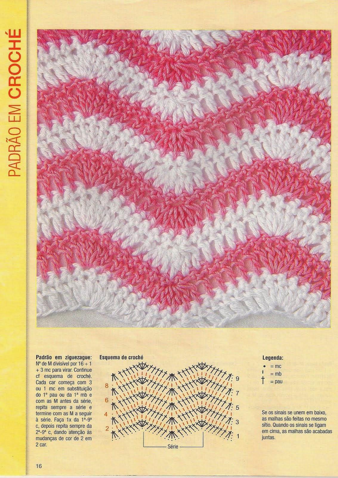 Hermosa Los Patrones De Crochet Chevron Ilustración - Ideas de ...