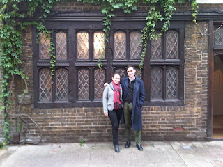 Annie Tanner with her brother in London
