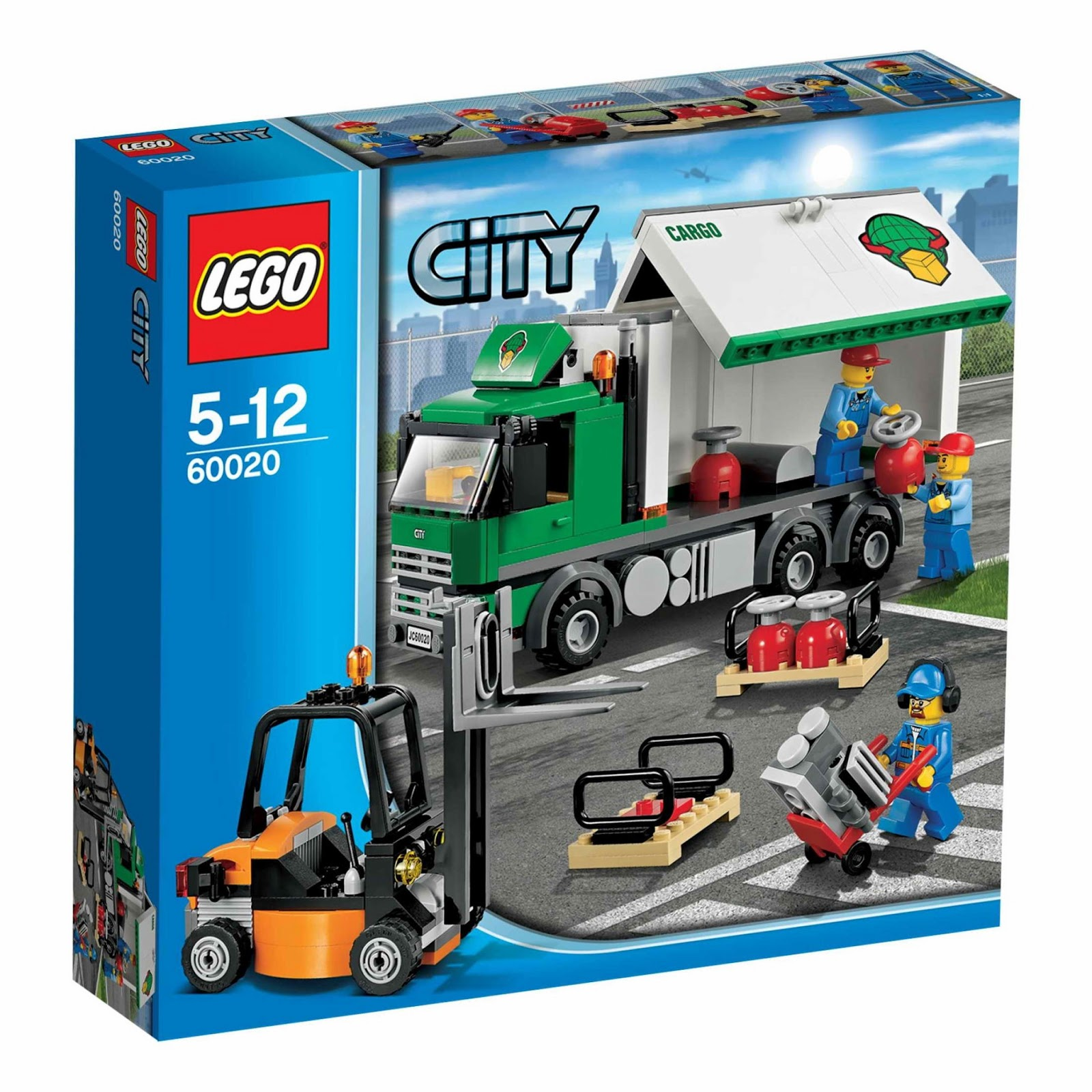 Lego City Toys : Lego gossip cargo truck box art and picture