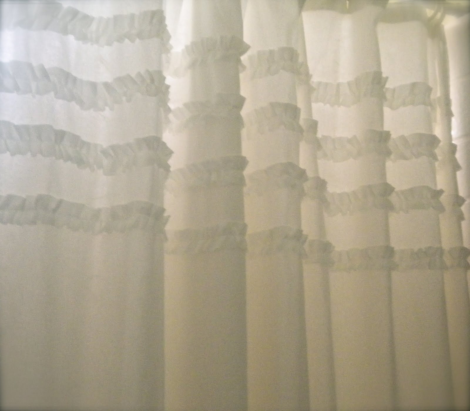 Cottage Blessings: Shabby Chic Inspired Shower Curtain
