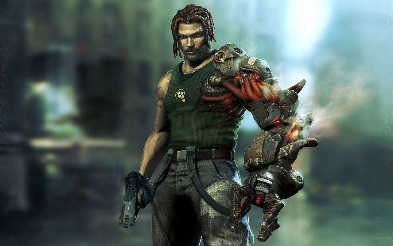 sexy wallpaper bionic commando game commando holding