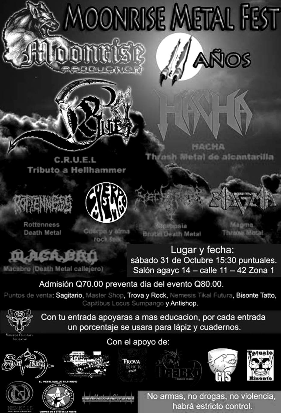 Moonrise Metal Fest 11 Year