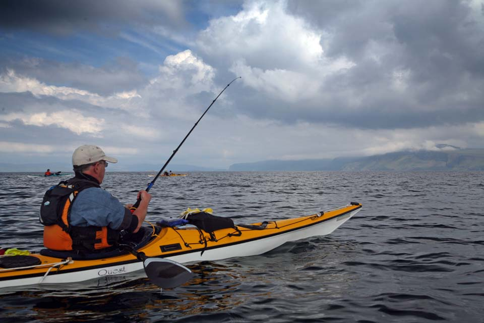 sea kayaking with sea kayak fishing