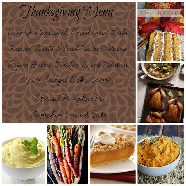 quasi traditional thanksgiving menu
