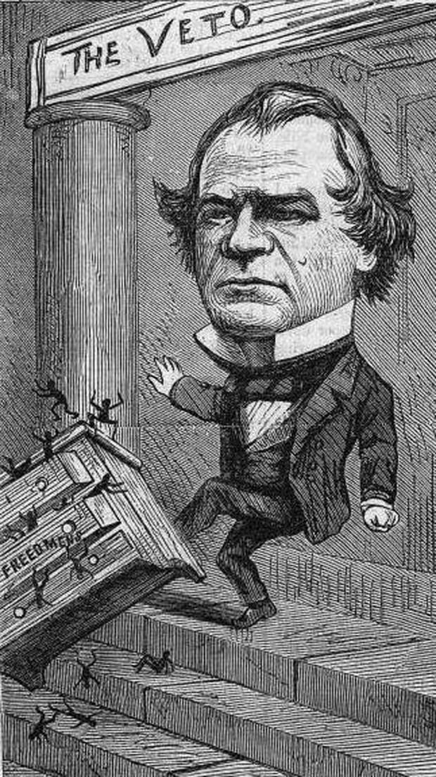 the reconstruction era president johnson versus