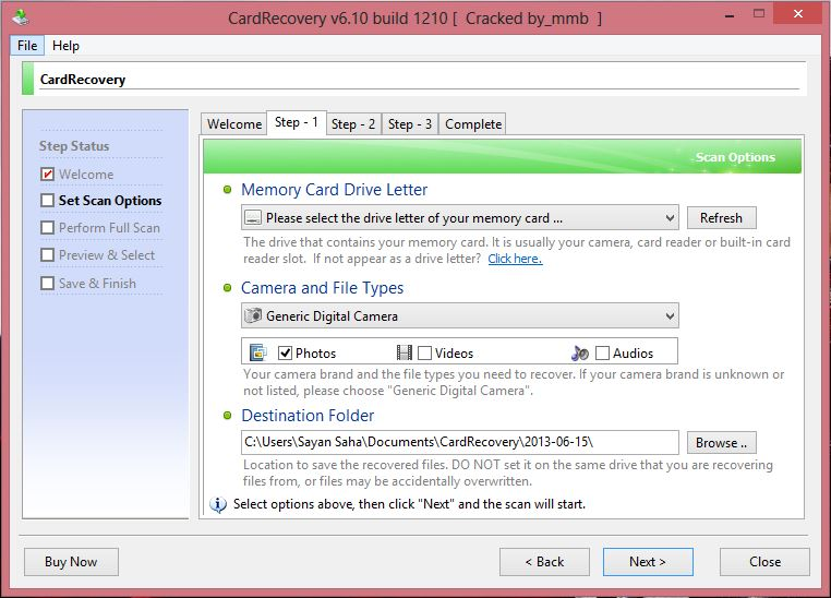 card recovery registration key v6.10