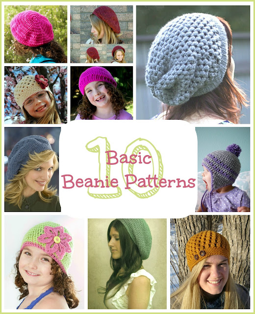 Free Crochet Pattern Basic Beanie : Hopeful Honey Craft, Crochet, Create: 10 Free Basic ...