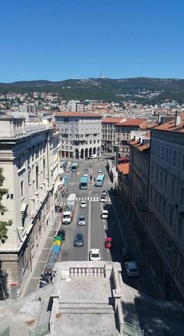 Panorama Trieste dalla Scala dei Giganti