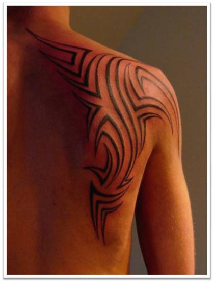 Man Embedding a Tribal Tattoo