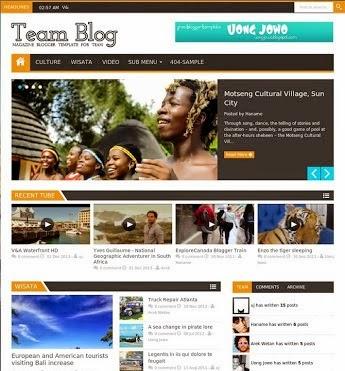 Teamblog Responsive Magazine Blogger Template