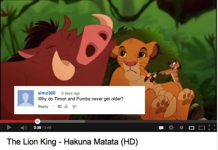 The 16 Funny YouTube Comments on Disney Movie Clips