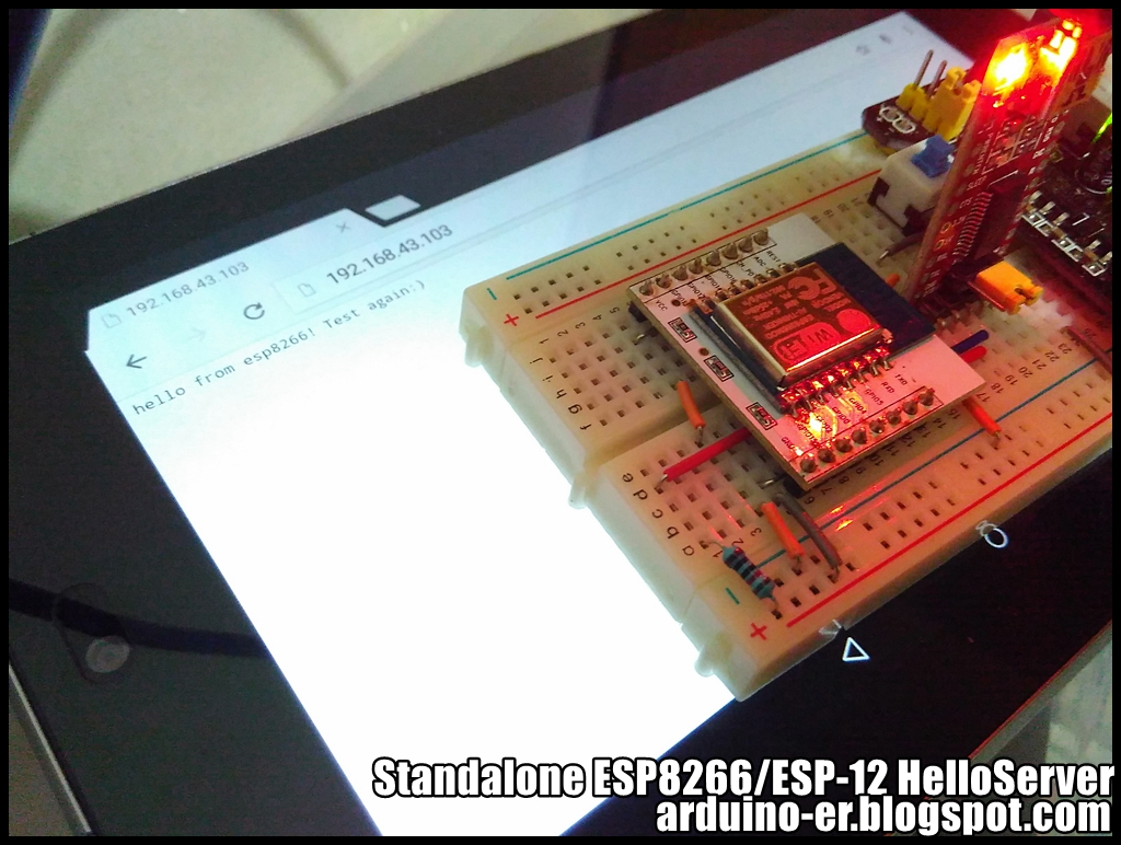 Arduino er simple web server example of standalone