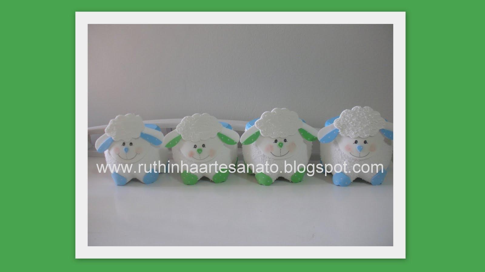 trabalhos manuais para decoracao de interiores : trabalhos manuais para decoracao de interiores:Ruthinha Artesanato: Decoração quartinho ovelhinhas