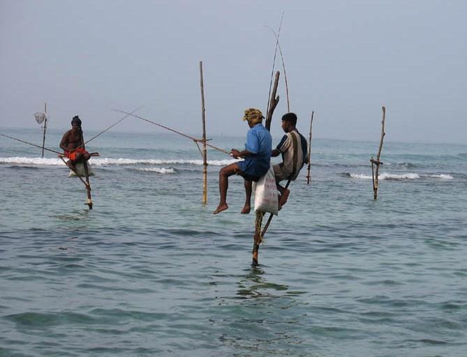 ланка рыбаки на шестах