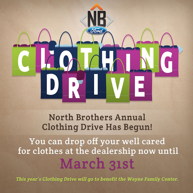 Wayne Family Center Clothing Drive at North Brothers Ford