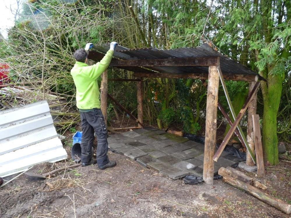 schoonmaken houten blokken
