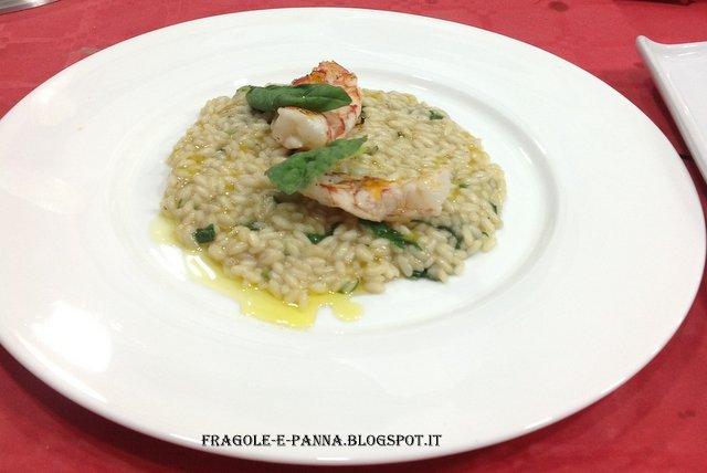 risotto al basilico e gamberetti