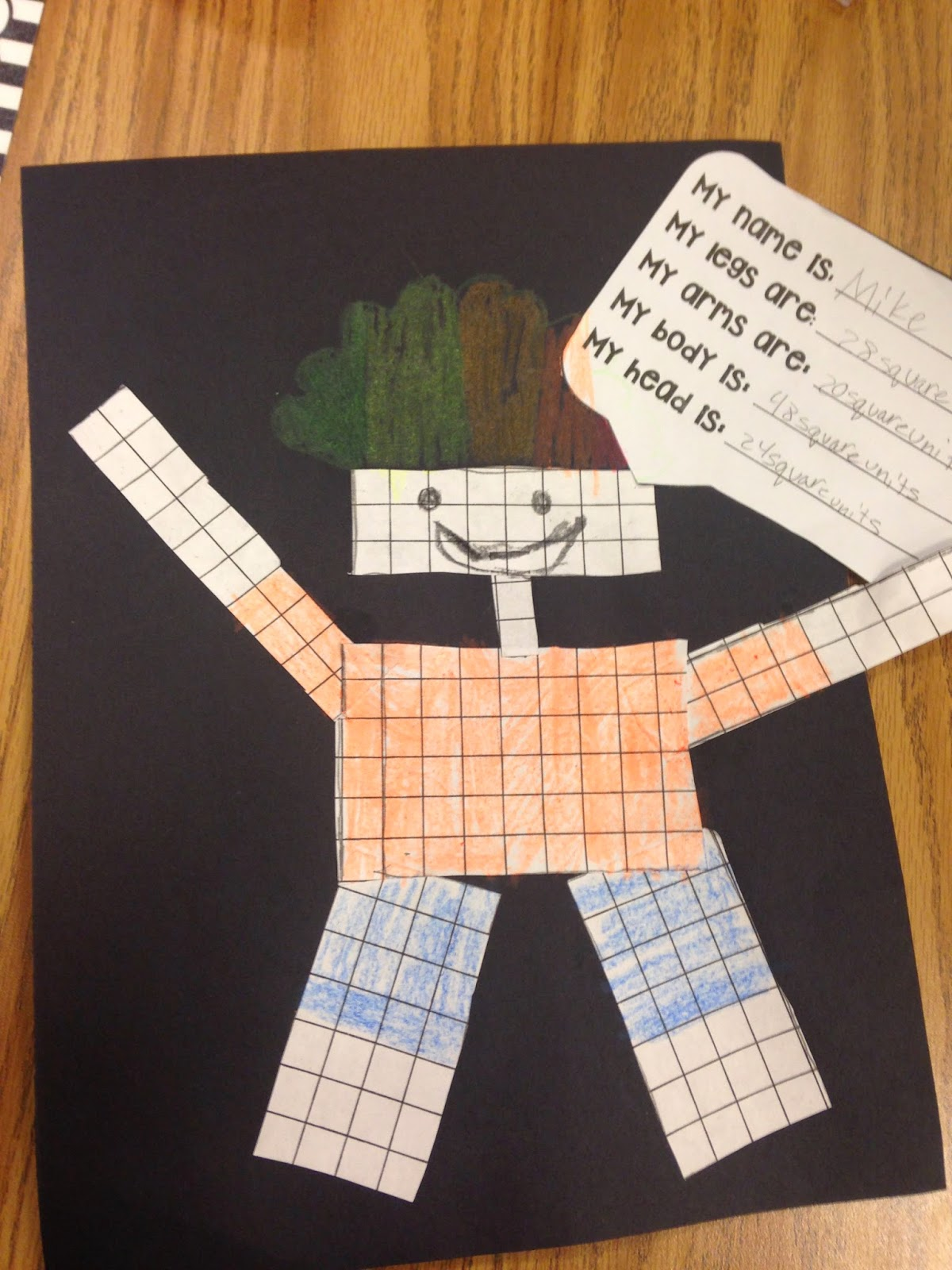 Area and Perimeter Robot Craft   Robot, Students and Math