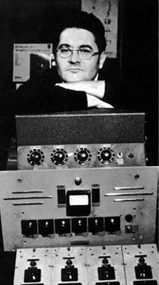 Pierre Henry en el estudio durante los años 50