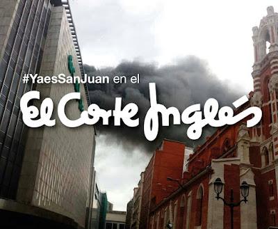 El Corte Inglés, incendio, memes, paisaje humano,