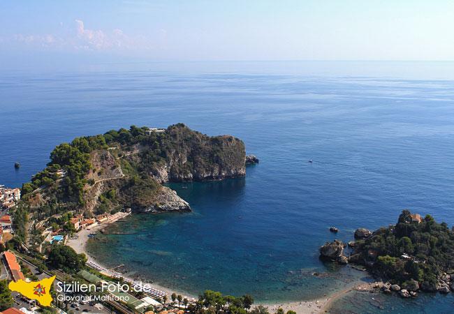 Bucht von Taormina und Isola Bella