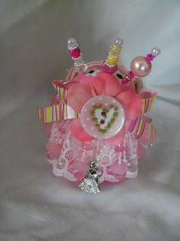 Back View of Baby Shoe Pin Cushion