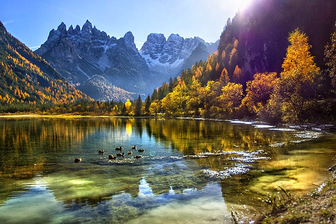 Доломитовые альпы осень