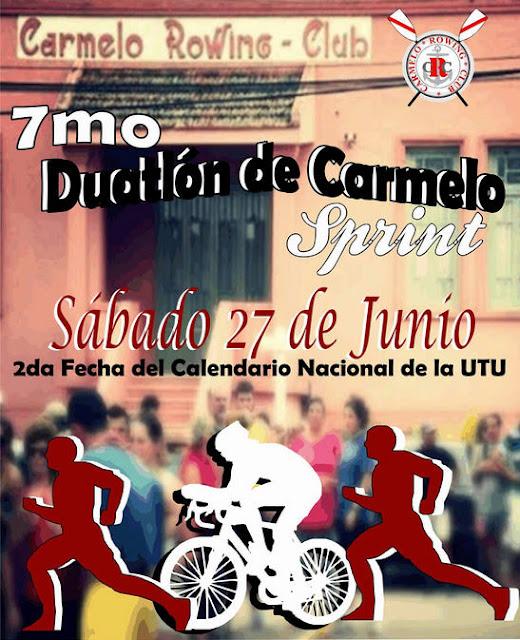 Duatlón de Carmelo (sprint, Colonia; sáb 27/jun/2015)