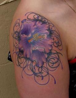 flower tattoos on shoulder