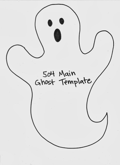 Easy Ghost Garland Template by 504 Main