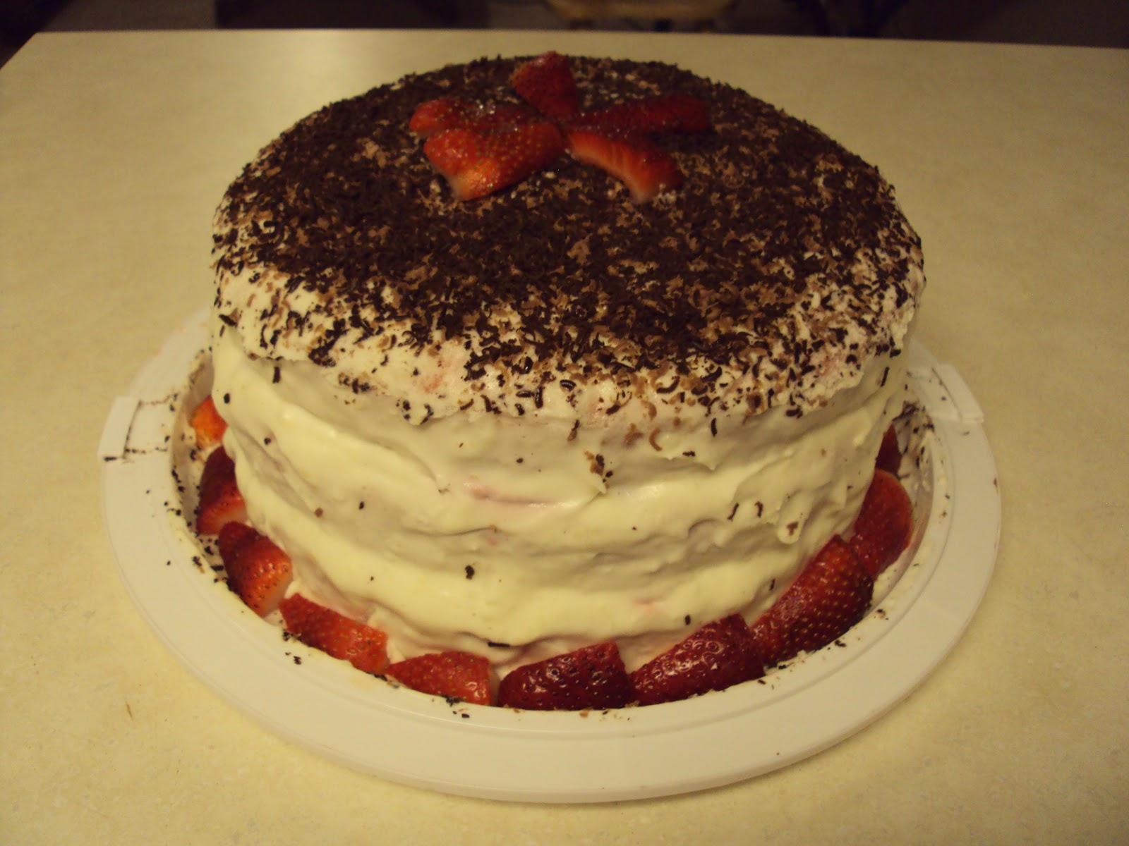 Caribou Classics: Strawberry Cream White Chocolate Cake