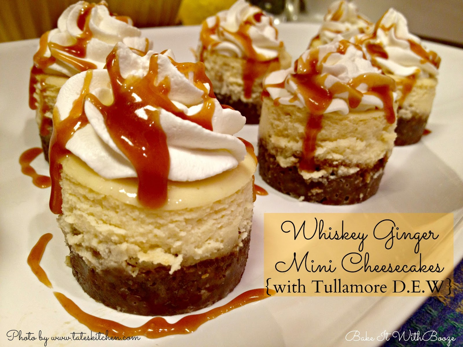 Recipe: Whiskey ginger mini cheesecakes {with Tullamore D.E.W.}