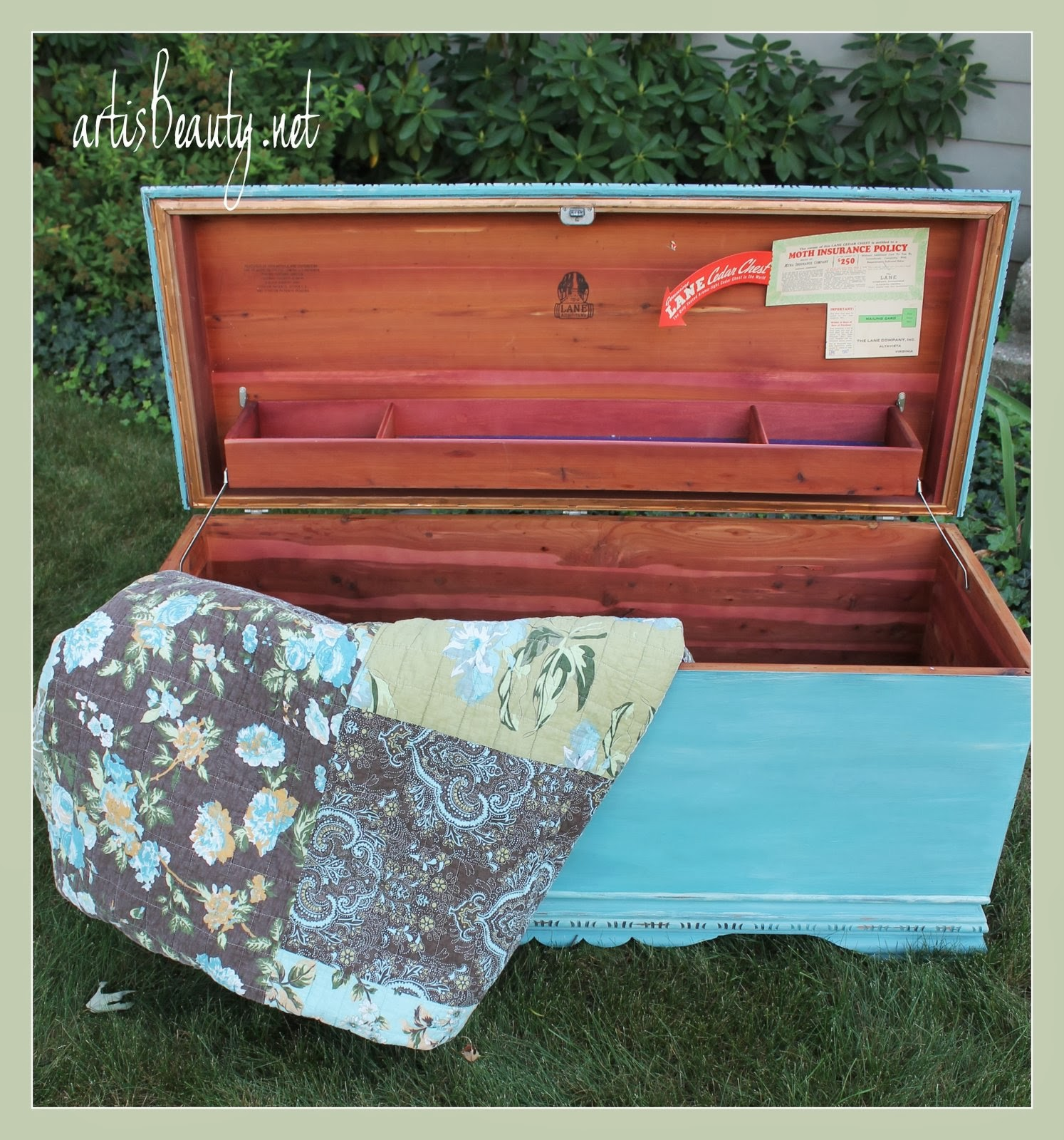 art is beauty painted cedar chest makeover
