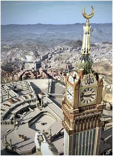 inilah yg disebut Rasullah bangunan melebihi bukit