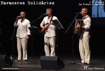 Grup Peix Fregit a la cantada d'havaneres Solidàries de La Bisbal d'Empordà