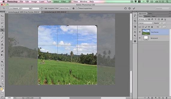 Crop e Perspective Crop no Photoshop CS6
